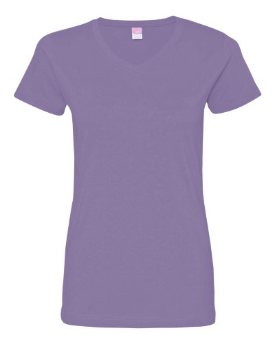 Ladies' Fine Jersey V-NeckT-Shirt - 3507