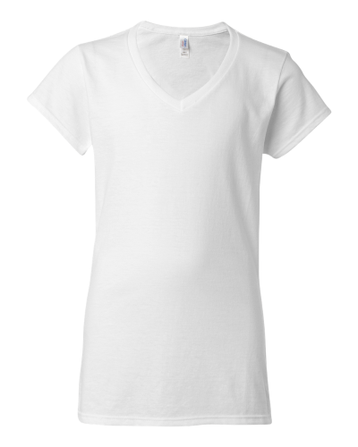 Junior Fit Softstyle V-Neck T-Shirt - 64V00L