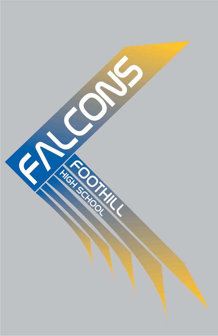 FOOTHILL_FALCONS_graphic_design