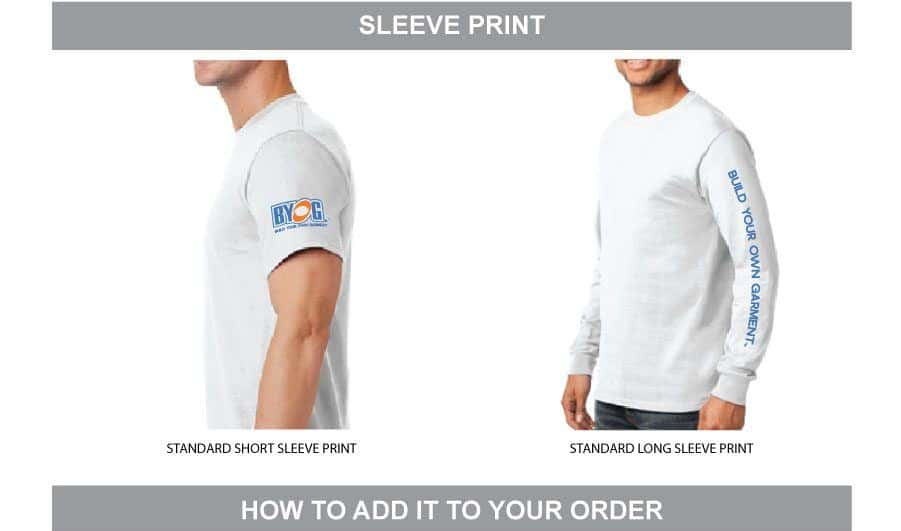 Add a Sleeve Print Design