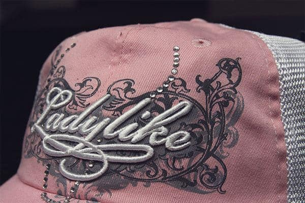 Custom embroidered hats example