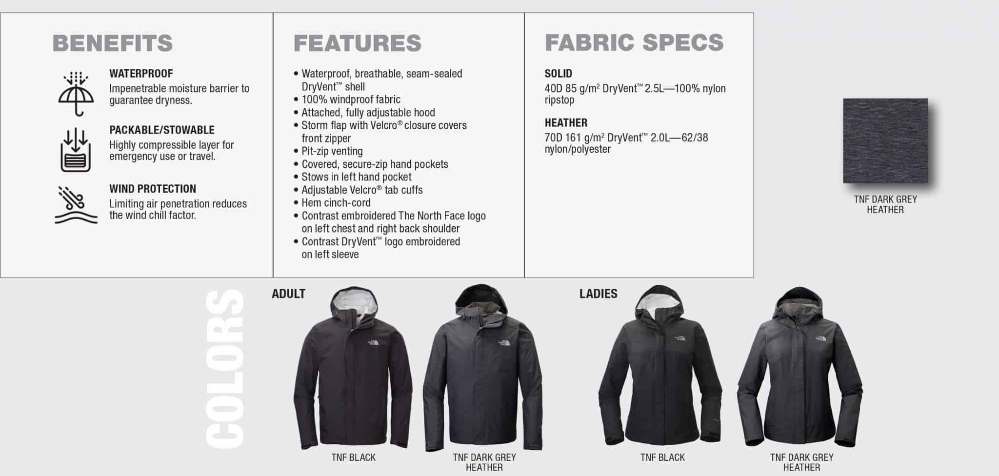 Custom North Face Jackets – DryVent Benefits