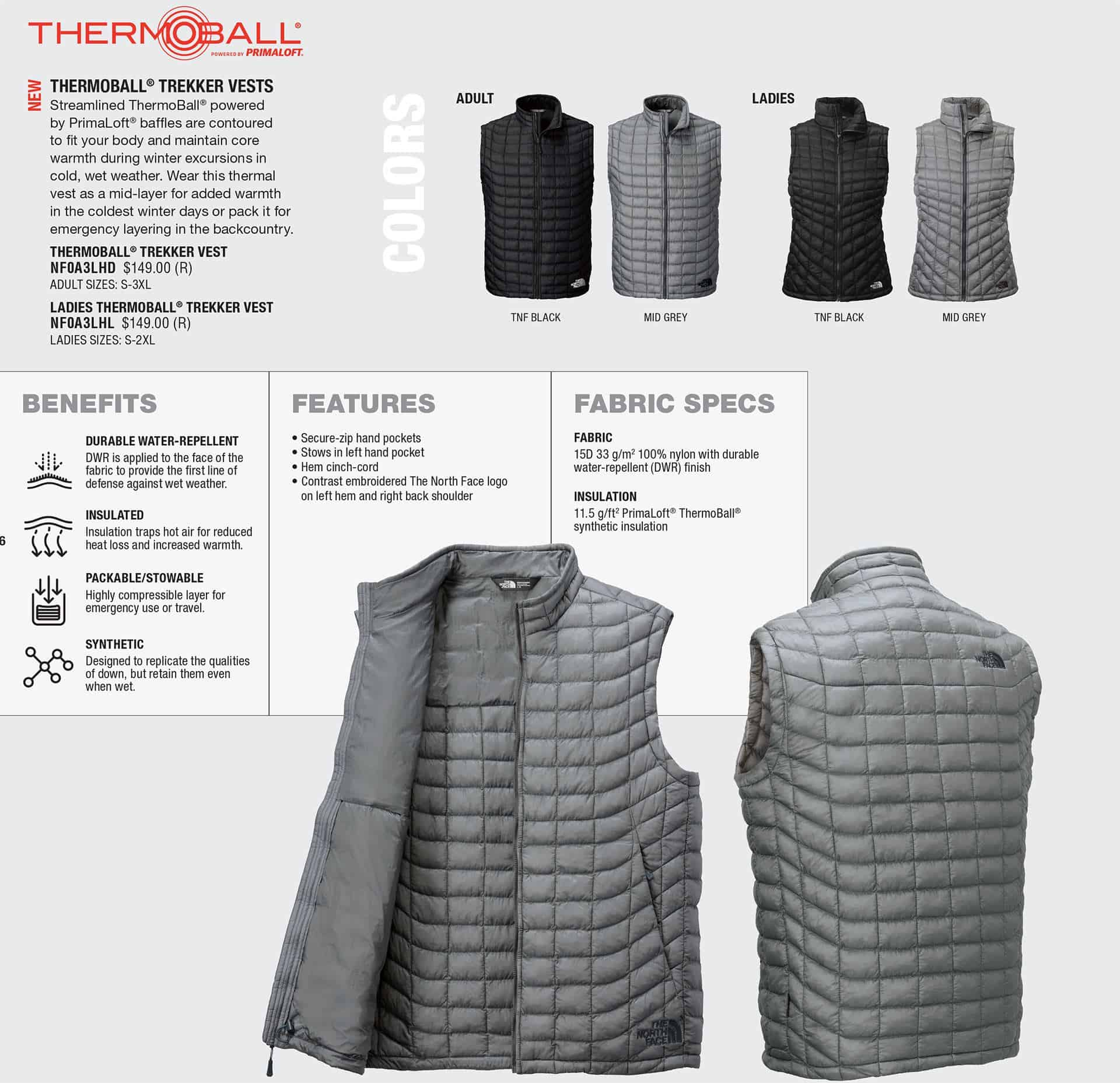 Custom North Face Jackets – Thermoball Vests