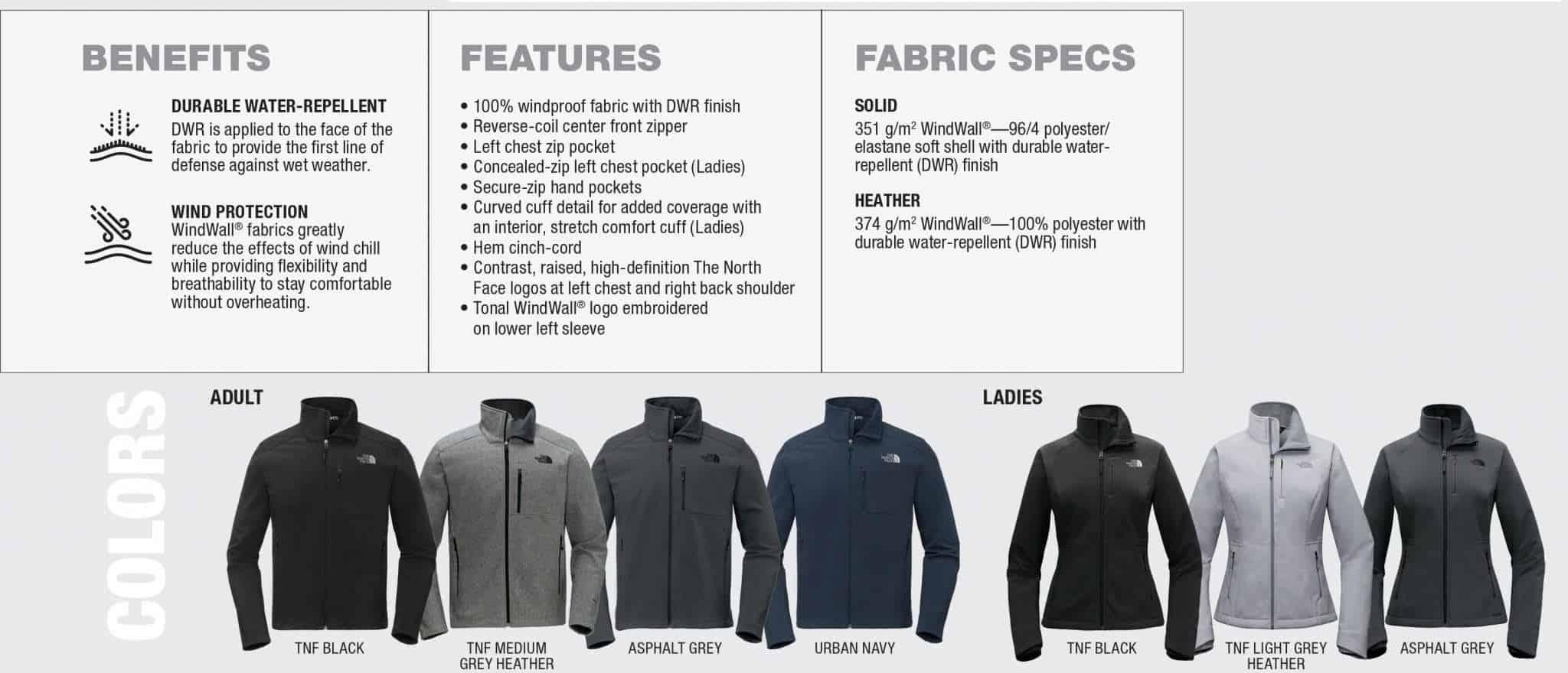 891610fa988b Custom North Face Jackets – WindWall Benefits