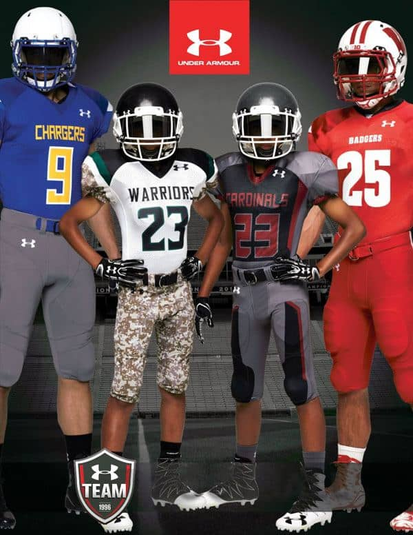 Under Armour football uniforms