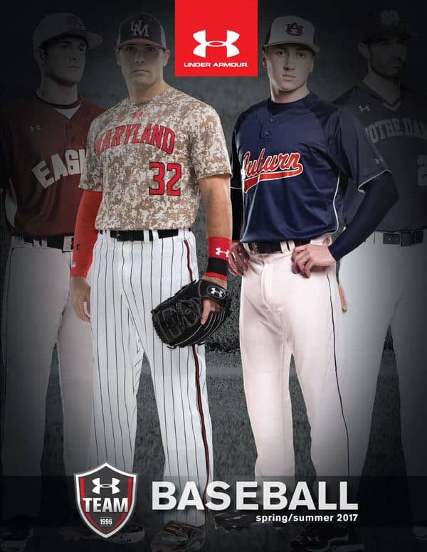 Under Armour baseball customized gear