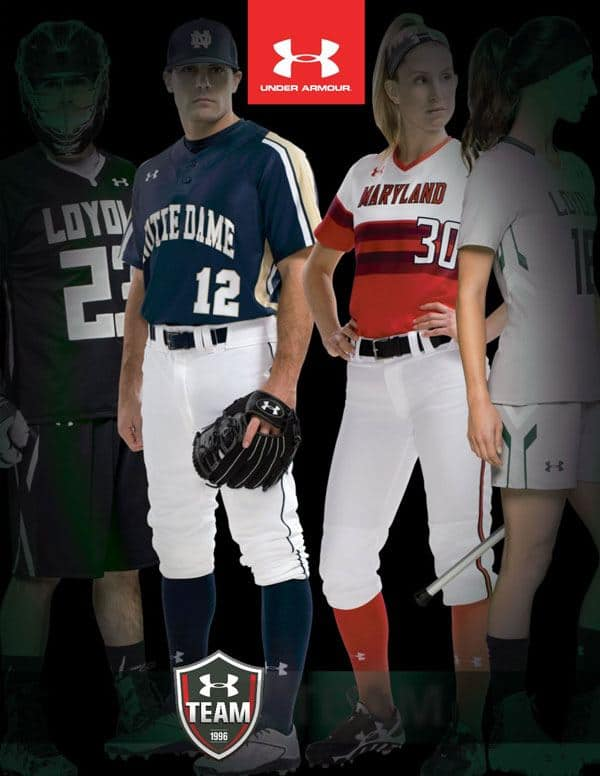 Under Armour baseball uniform
